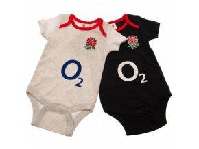 Dětské Body England Rugby FC 6/9 měsíců - 2 kusy gr