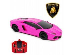 Lamborghini Aventador Auto Na Dálkové Ovládání 1:24 růžové