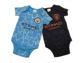 Dětské Body Manchester City FC 9/12 měsíců - 2 kusy