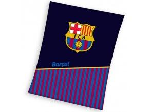 Fotbalová deka FC Barcelona Half of Stripes 150x200 cm