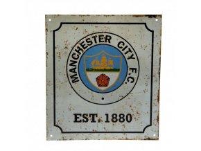 Cedule Manchester City Logo Retro