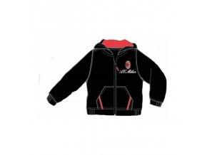 Mikina AC Milan černá s kapucí 5-6 let