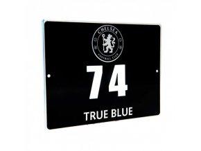 Cedule Chelsea FC s číslem domu