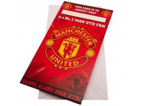 Přání Manchester United FC No 1 Fan