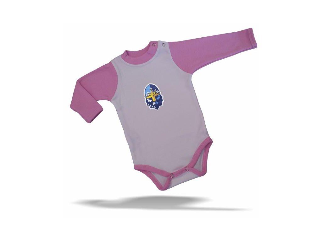 108 Baby BODY RYTÍŘI bílo-růžové