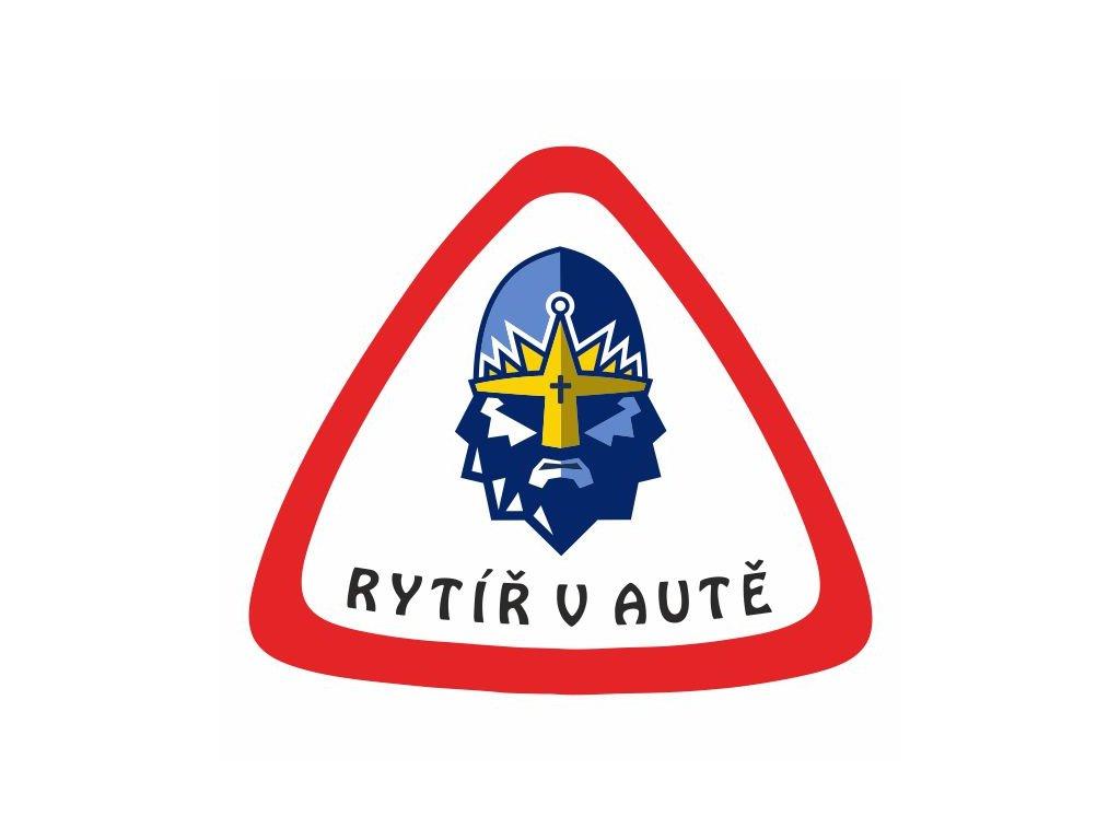 239 Samolepka RYTÍŘ V AUTĚ 156x138mm