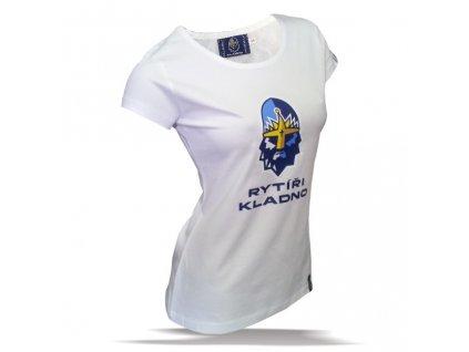 011 Dámské tričko RYTÍŘI S LOGEM bílé