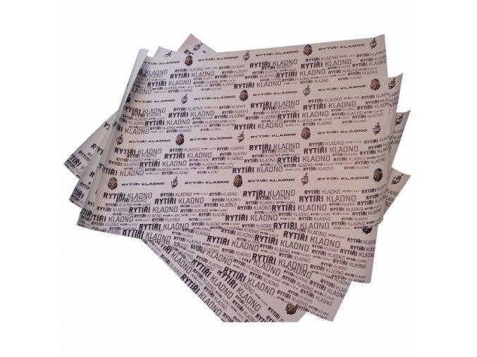 230 Balení 5ks balícího papíru RYTÍŘI KLADNO