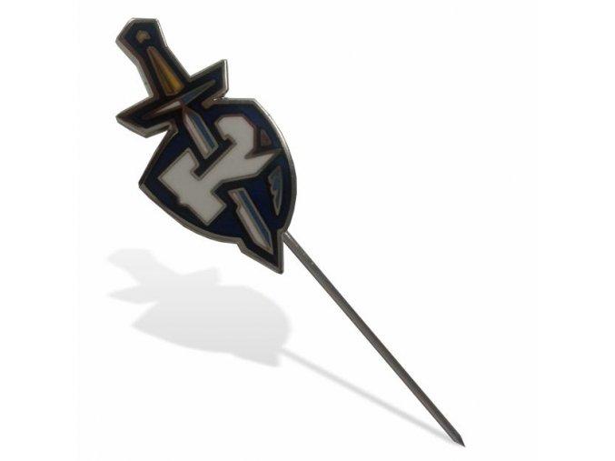 004 Ražený odznak MEČ s jehlou