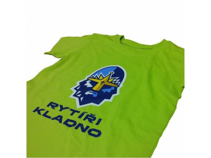 010 Tričko RYTÍŘI KINDER limetková