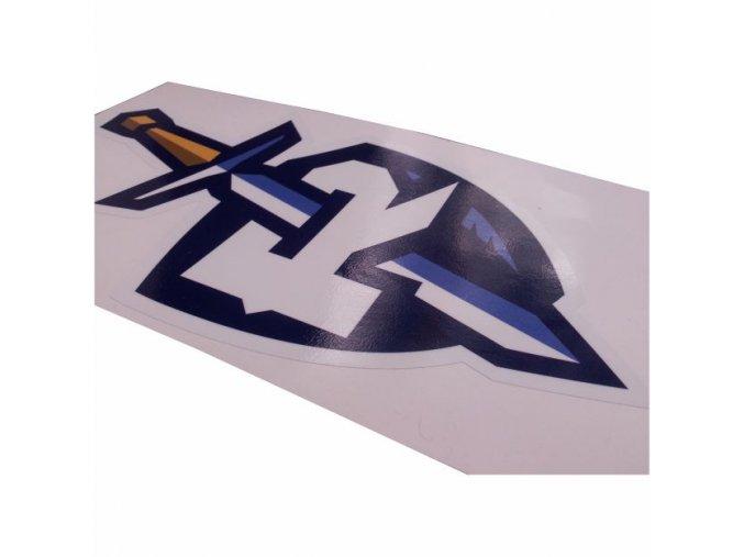 253 Samolepka Štít s mečem 280x154mm 1ks VELKÁ