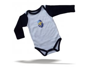 104 Baby BODY RYTÍŘI bílo-navy