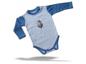 106 Baby BODY RYTÍŘI bílo-azurové