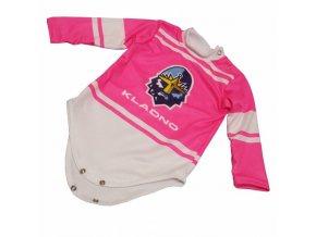 084 Baby BODY RYTÍŘI subli pink
