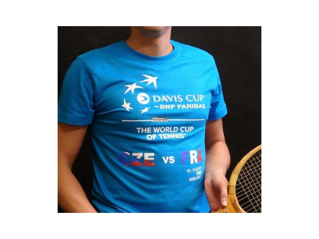 27f46eb7fdd Dětské tričko modré Davis Cup 2016 ČR-FRA - FANzone