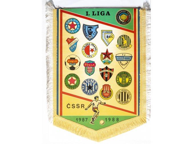 Vlajka I. liga fotbalu 19871988, velká