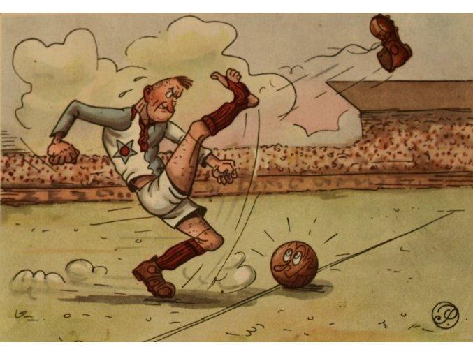 Fotbalista bez kopačky III sport antique 30 7 17 (131)