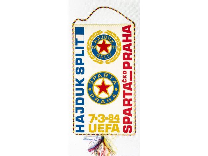 Klubová vlajka Sparta Praha vs. Hajduk Split, 1984 (1)