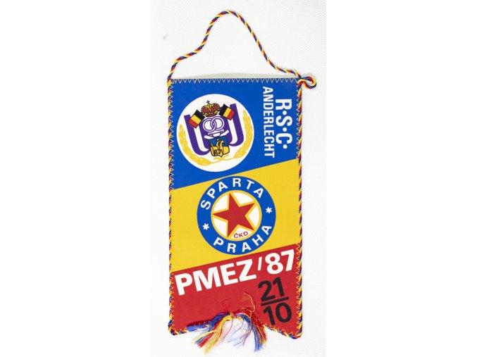 Klubová vlajka Sparta Praha vs. RSC Anderlecht, 1987 (1)
