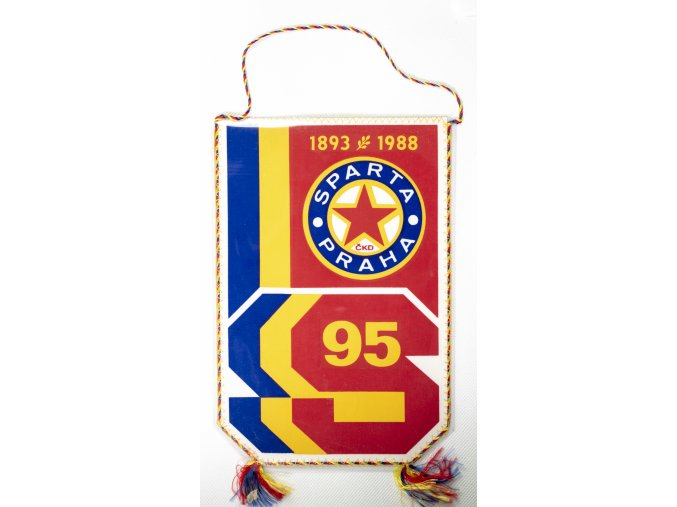Klubová vlajka Sparta Praha  ČKD, 95 let, 1988