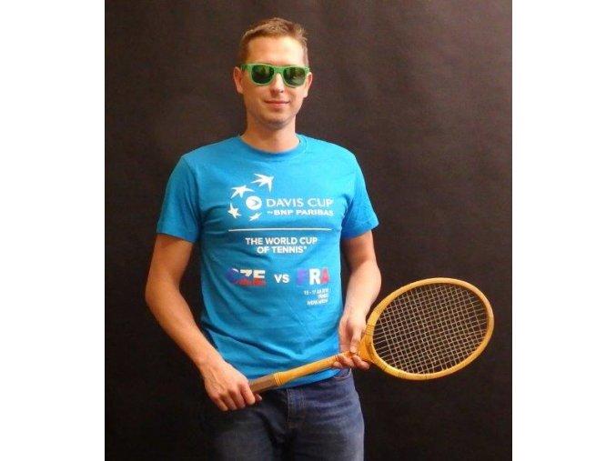 Tričko modré Davis Cup 2016 ČR-FRA