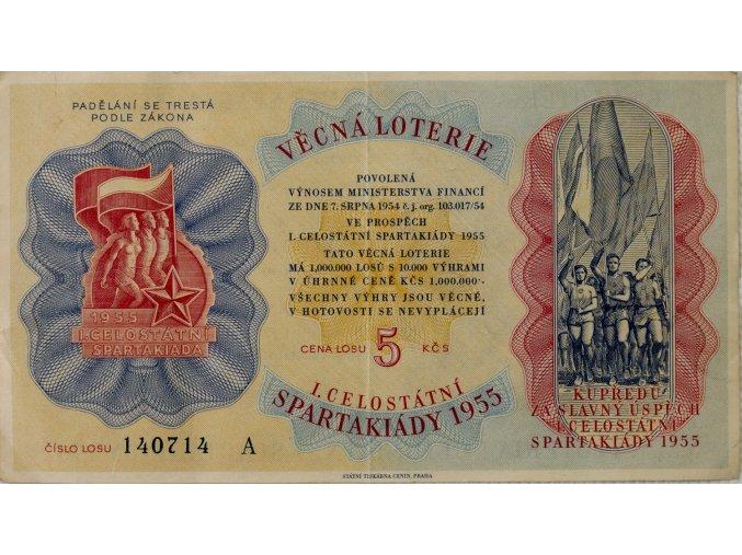 Los Věcná loterie Československé spartakiády, A, 1955 II