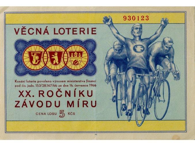 Los Věcná loterie XX. ročníku Závodu míru, 1966