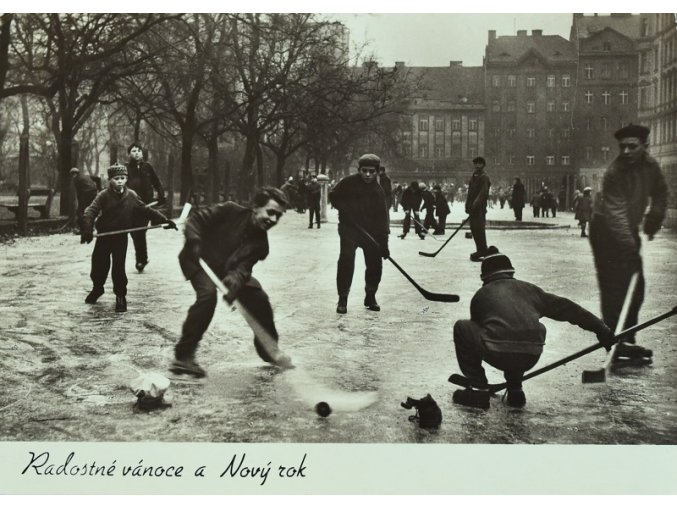 Radostné vánoce a Nový rok s hokejem sport antique cervec 17 (108)