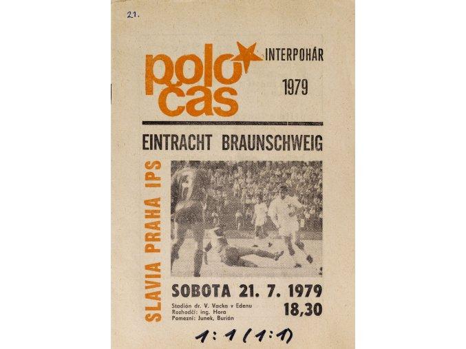 POLOČAS SLAVIA vs. Eintracht Braunscweig, INTERPOHÁR 1979