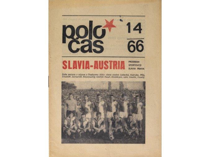 POLOČAS SLAVIA vs. AUSTRIA, Středoevropský pohár, 1966