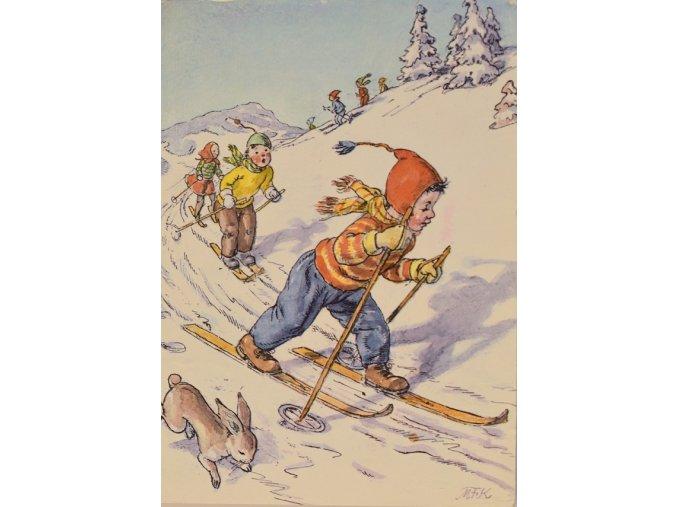 Lyžařův závod se zajícem III sport antique 30 7 17 (61)
