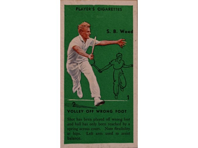 Tennis USA Davis Cup Wood Original 1930's Vintage Action Card III sport antique 30 7 17 (65)