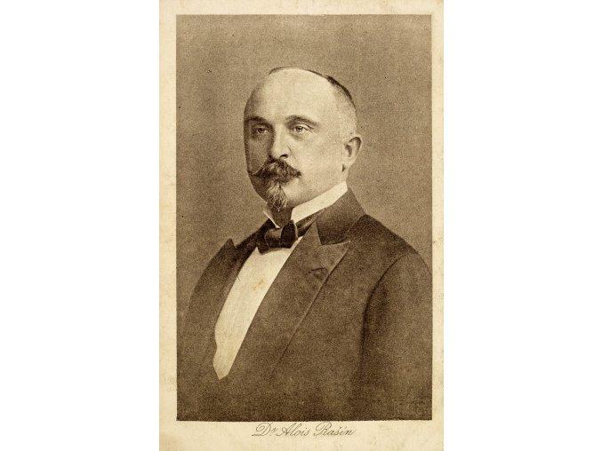 Fotografie Langhansova, pohlednice, Dr.Alois Rašín (2)