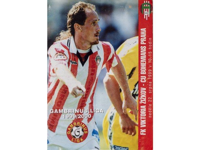 Program FK Viktoria Žižkov vs. CU Bohemians Praha, 1999