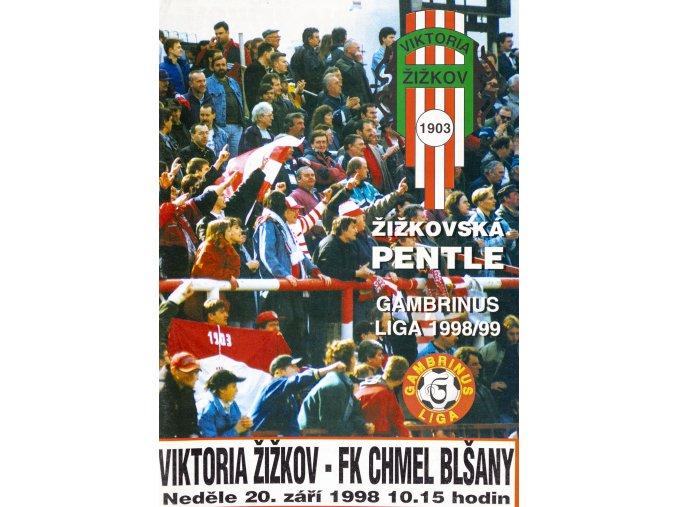 Program Žižkovská pentle, Žižkov vs. FK Chmel Blšany, 1998