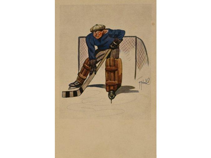 Pohlednice hokejový brankář III sport antique 30 7 17 (44)