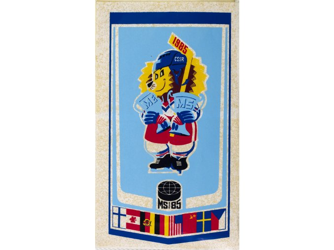 Samolepka MS hokej Praha, 1985