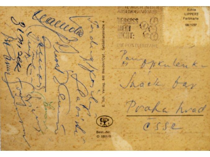 Pohlednice, autogramy, Slavia, Weiden (1)