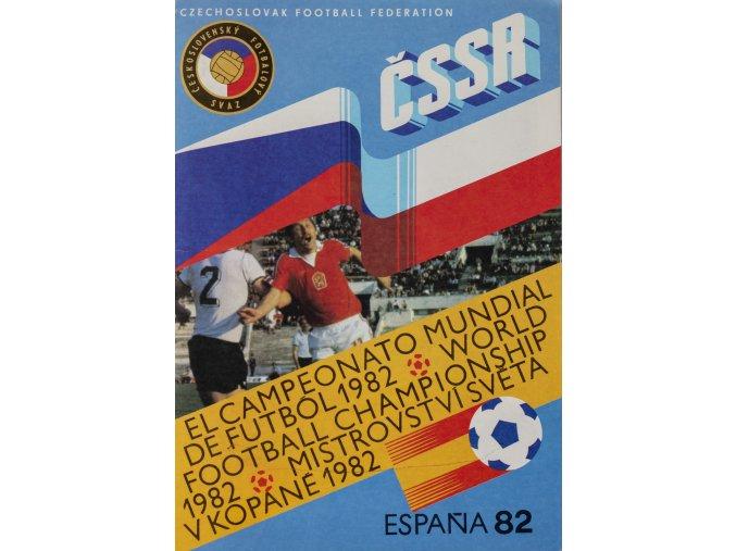 Officiální průvodce Espana 82, tým ČSSR (1)