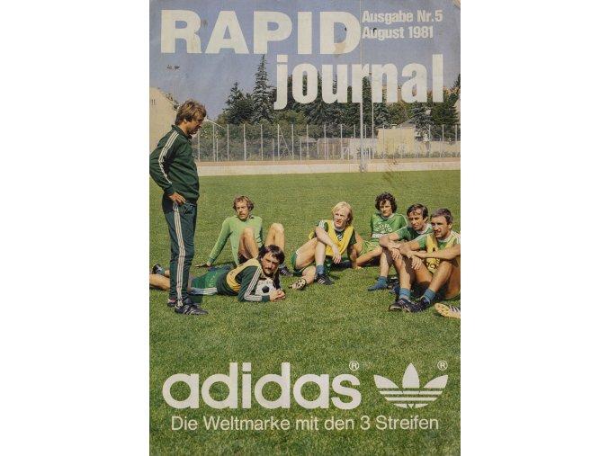 Officiální průvodce Rapid Journal, A.Panenka, 1981 (1)