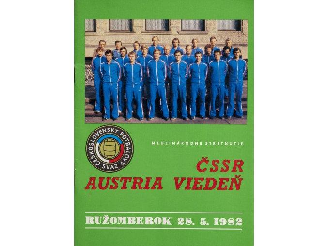 Program ČSSR vs. Austria Vídeň, 1982