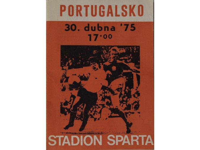 Program ČSSR v. Portugalsko, 1975 (2)