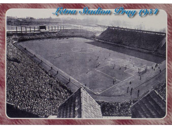 Pohlednice stadión Letna, Prag 1954 (1)