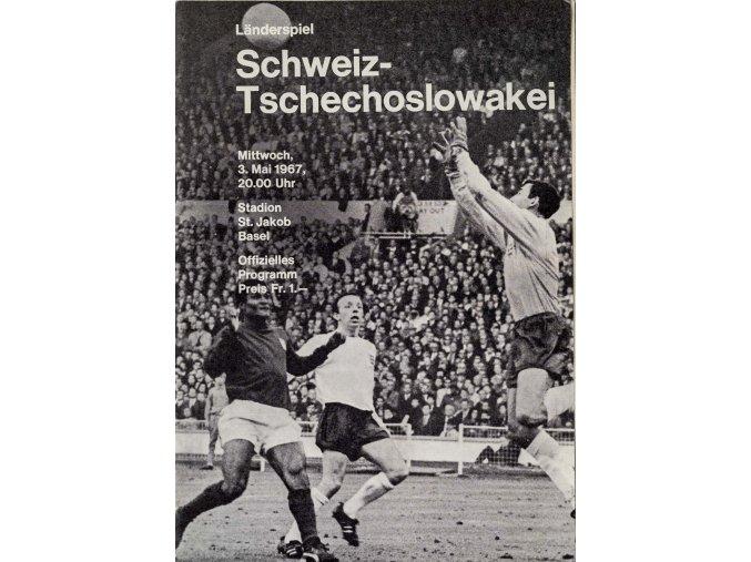 Program fotbal Schweitz v. Tsechoslowakei, 1967 (1)