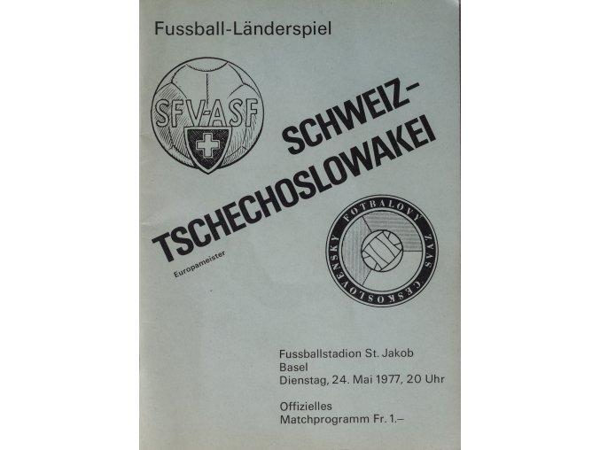 Program fotbal Schweitz v. Tsechoslowakei, 1967 (3)