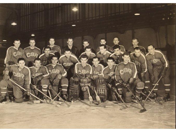 Mužstvo ČSR MS v hokeji 1959 Československo sport antique cervec 17 (26)