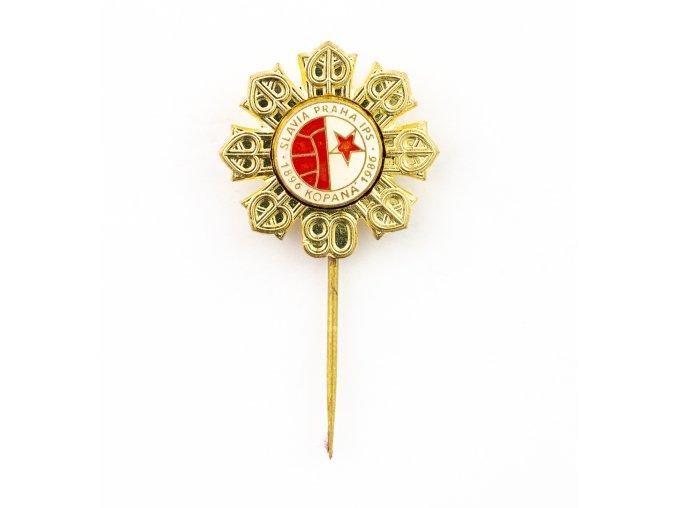 Odznak SLAVIA PRAHA Kopaná 90 let, 1986 (3) 1