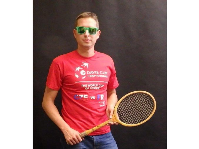 Tričko červené Davis Cup 2016 ČR-FRA