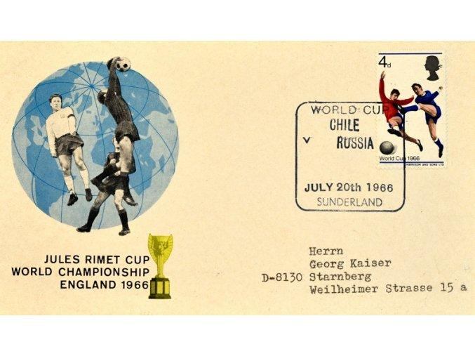 Dopisnice MS FOTBAL ENGLAND 1966 sport antique cervec 17 (73)