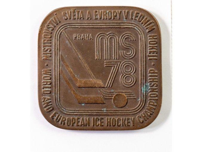 Plaketa MS Hokej Praha, 1978 (1)